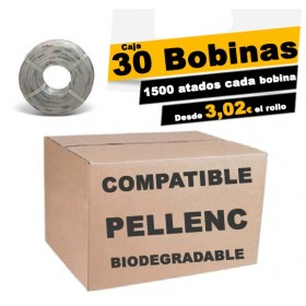 Caja 30 BOBINAS DE HILO COMPATIBLE BIODEGRADABLE 200m desde 60€ la caja