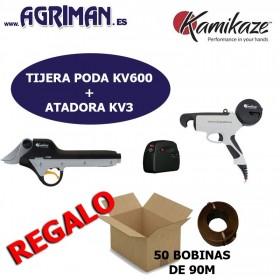 KIT VIÑA TIJERA KV 600 + ATADORA KV3 KAMIKAZE AGRIMAN