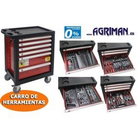 CARRO DE  HERRAMIENTAS 130 PIEZAS AGRIMAN