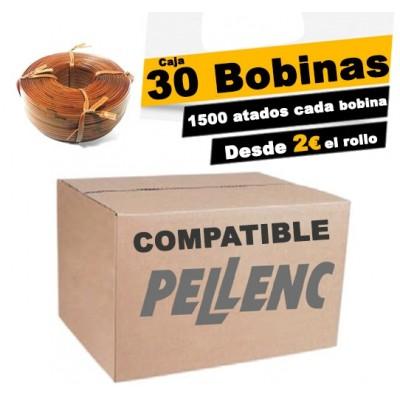 Caja 30 BOBINAS DE HILO COMPATIBLE PELLENC 200m