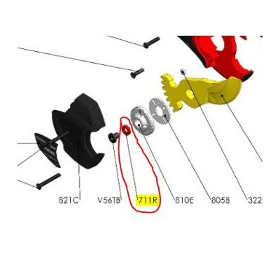 REPUESTOS TIJERA PODA ELÉCTRICA ELECTROCUP: 711R ARANDELA CAUCHO F3015 Válidos para: F3015 Contenido: ARANDELA CAUCHO
