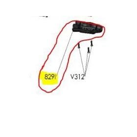 REPUESTOS TIJERA PODA ELÉCTRICA ELECTROCUP: 829I TAPA INFERIOR F3015 Válidos para: F3015(KIT DE CABLE DE SEGURIDAD)