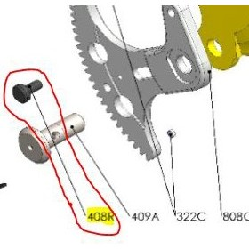 REPUESTOS TIJERA PODA ELÉCTRICA ELECTROCUP: 408R REMACHE FIJACIÓN HOJA MAXICOUP Válidos para: F3015(KIT MAXI)