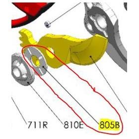 REPUESTOS TIJERA PODA ELÉCTRICA ELECTROCUP: 805B RODAMIENTO PLANO F3015 Válidos para: F3015(KIT ESTÁNDAR)