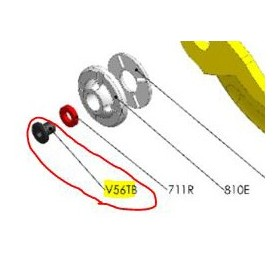 REPUESTOS TIJERA PODA ELÉCTRICA ELECTROCUP: V56TB TORNILLO 5x6 BASE CABEZAL F3015 Válidos para: F3015(KIT MEDIO)