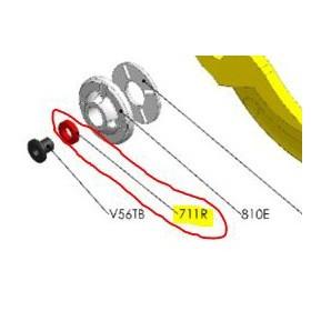REPUESTOS TIJERA PODA ELÉCTRICA ELECTROCUP: 711R ARANDELA CAUCHO F3015 Válidos para: F3015(KIT MEDIO)
