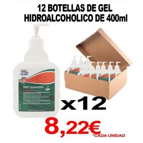 12 BOTELLAS CON DOSIFICADOR 400ml DE GEL HIDROALCOHOLICO (ESPUMA)