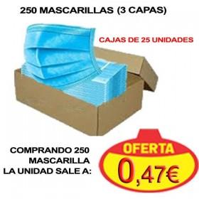 caja de 25 mascarillas ffp1 sanitarias 250 desde 0,47€ la unidad