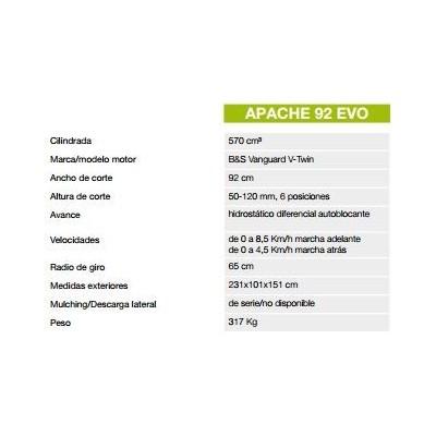 TRACTOR DESBROZADOR APACHE 92EVO OLEOMAC 4
