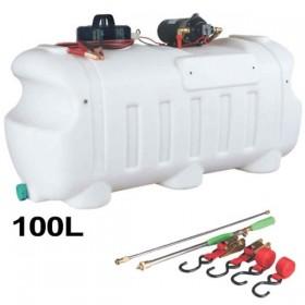 Depósito(100L) pulverizador de productos herbicida y fitosaniario, bomba eléctrica a batería 12V