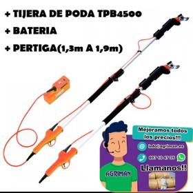 TIJERA DE PODA ELECTRICA ANOVA TPB4500 + PERTIGA (1,3m A 1,9m)