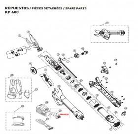 CONECTOR BATERIA PARA TIJERA KAMIKAZE KP400(ref:KP400R28)