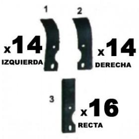 Válidos para: ER73T Y ER73T2 Contenido: 16 Cuchillas rectas + 14 Cuchillas curvada izquierda + 14 Cuchillas curvada derecha