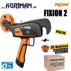 ATADORA PELLENC FIXION 2+CAJA DE 30 BOBINAS DE HILO COMPATIBLE CON PELLENC