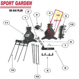 TAPA MOTOR CABEZAL VAREADOR PARA SG 505 PLUS SPORT GARDEN (REF: 0815)