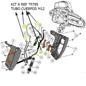 KIT A / TUBO CUERPOS SEILON M12 PZAS REF 78795