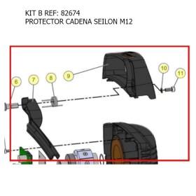KIT B / KIT PROTECTOR CADENA SEILON M12  REF 82674 MECÁNICA