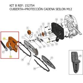 KIT B / KIT CUBIERTA + TENSIÓN CADENA SEILON M12  REF 152754 MECÁNICA